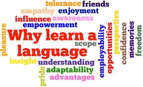 Colourful logos language learning